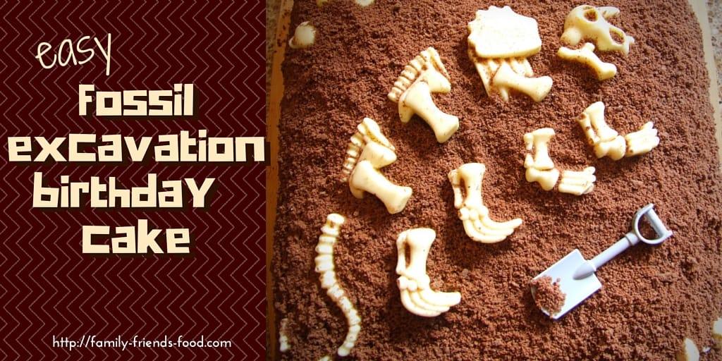 Easy Dinosaur Fossil Excavation Birthday Cake Family